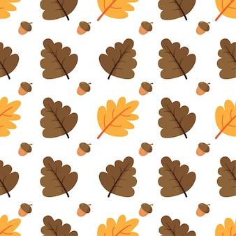 Autumn seamless pattern. fall leaves.