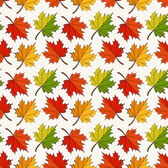 화려한 단풍 잎이을 완벽 한 패턴입니다.
