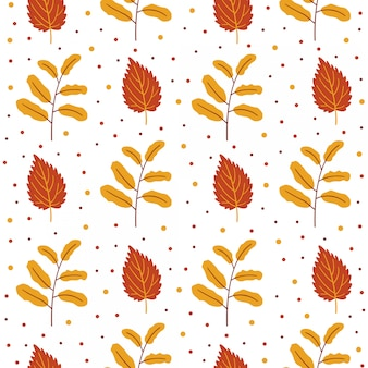 Autumn seamless pattern with florals.