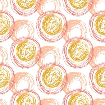 주황색 동그라미 텍스쳐가 완벽 한 패턴입니다. 손으로 그린 패션 hipster 배경