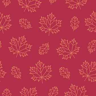 秋のシームレスなパターン。