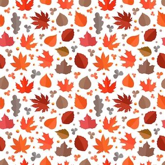 秋のシームレスパターン