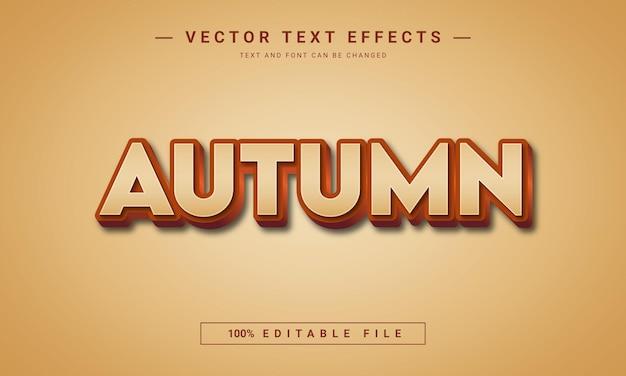 秋のシーズン3d編集可能なテキストスタイル効果