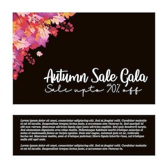 Autumn season brochure design vector