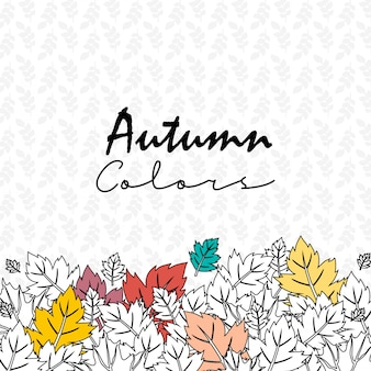 Autumn season design with light background vector