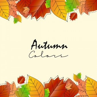 Autumn season design with light background vector