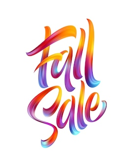 Autumn season hand lettering fall sale