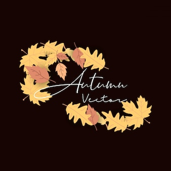 Autumn season typography with creative design vector
