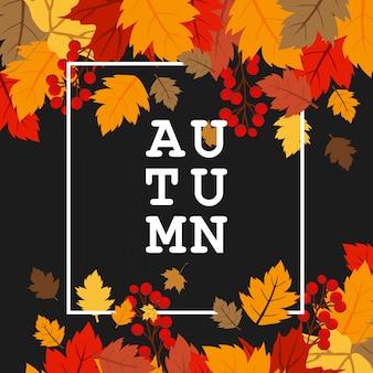 Autumn season with creative design