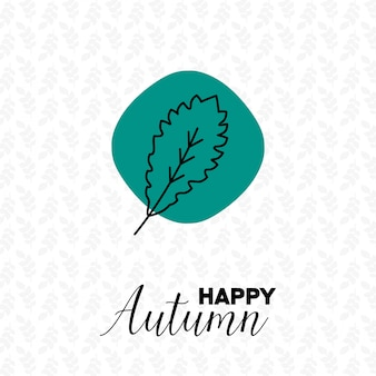 Autumn season with pattern background design vector