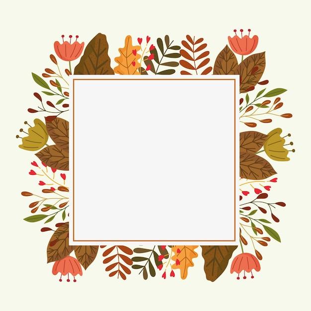 Осенняя сезонная рамка