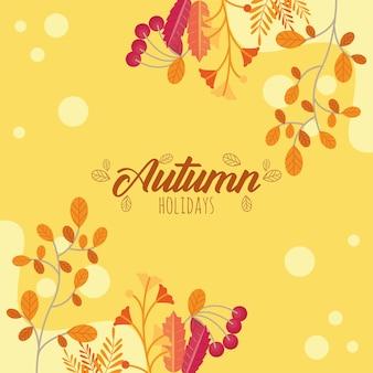 가을의 계절 엽서