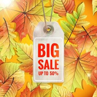 秋の季節限定セールラベル