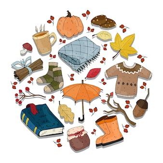 Осенний набор с элементами