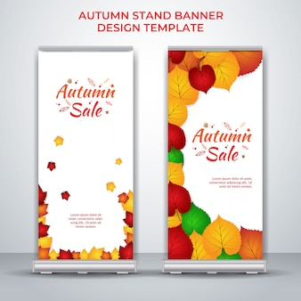 Autumn stand banner roll up
