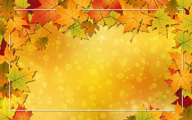 Autumn style vector background