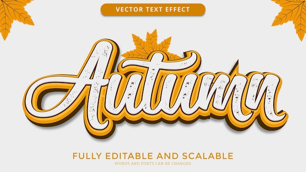Autumn text effect editable eps file