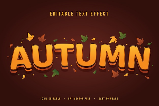 Осенний текстовый эффект