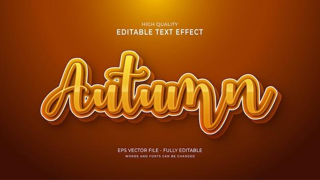 Осенний эффект стиля текста. редактируемый эффект шрифта.