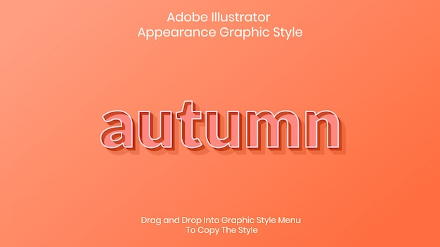 Autumn text style effect template