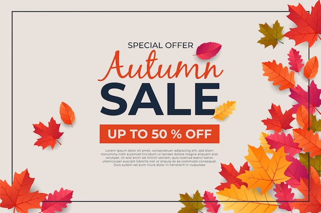 Autumn thanksgiving day banner leaf background celebration quotation