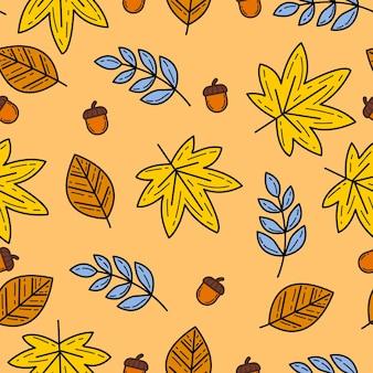 秋のテーマのシームレスなパターンの背景