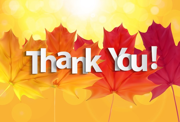 Autumn themed thank you illustration