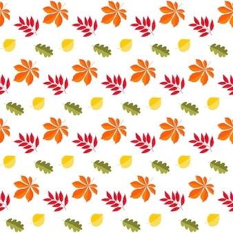 Autumn time seamless pattern background. handmade autumn swatch for design autumn card, school party invitation, album, shop sale advertising, t shirt, textile fabric, bag print etc