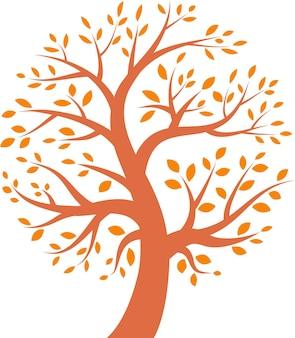 Осеннее дерево значок, векторные иллюстрации