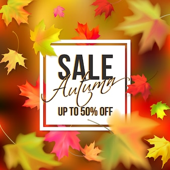 Autumn typographic sale
