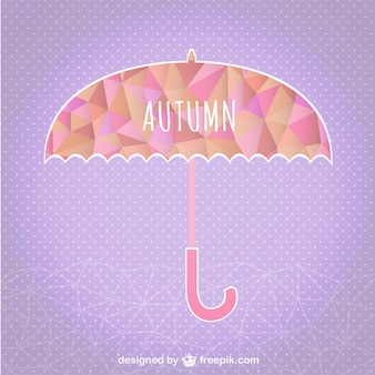 Осень зонтик геометрический шаблон