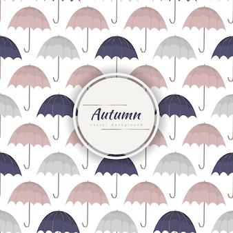 Autumn umbrella pattern