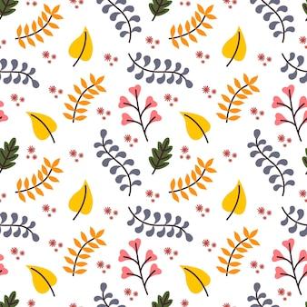 가을 벡터 원활한 패턴 배경