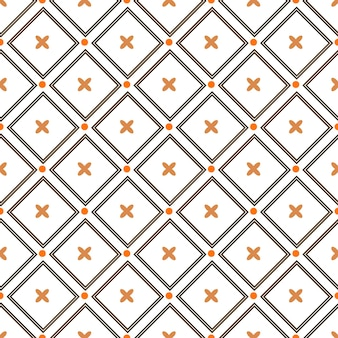 Autumn vector seamless pattern. endless texture for wallpaper, fill, web page background, texture. set of halloween and thanksgiving geometric ornament. orange and white colors
