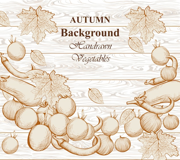 Autumn vegetables background