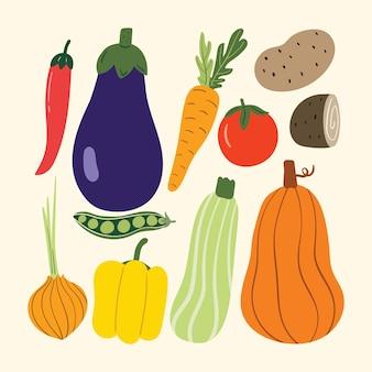 秋の野菜イラスト