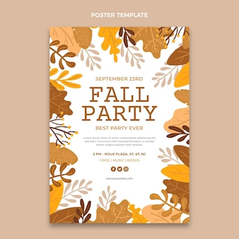 Autumn vertical poster template