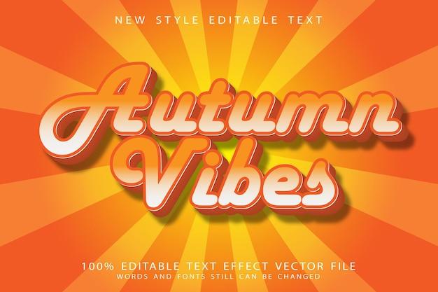Autumn vibes editable text effect emboss modern style