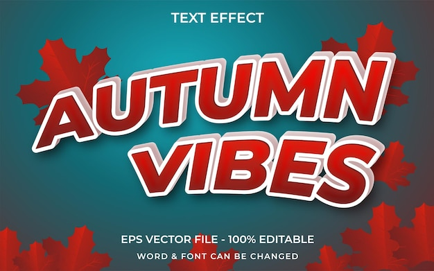 Autumn vibes text effect style editable text effect