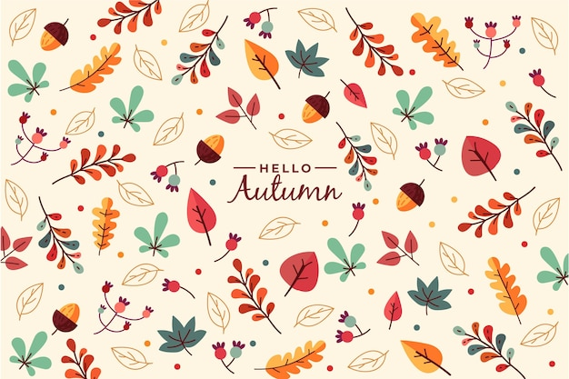 Autumn wallpaper concept