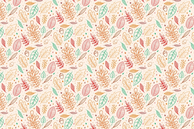 Autumn wallpaper design drawn