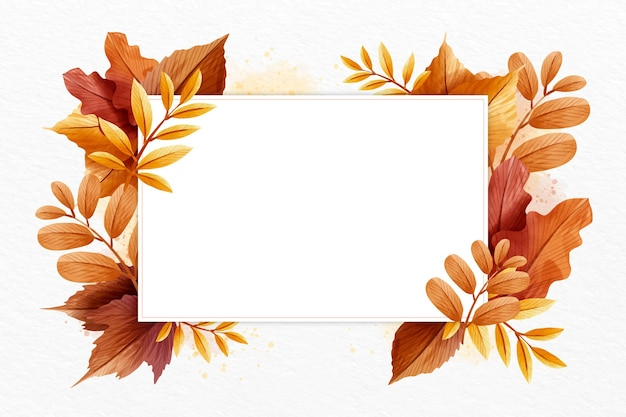 Autumn wallpaper with white space
