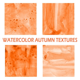 Autumn watercolor background