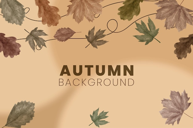 Autumn watercolor style background