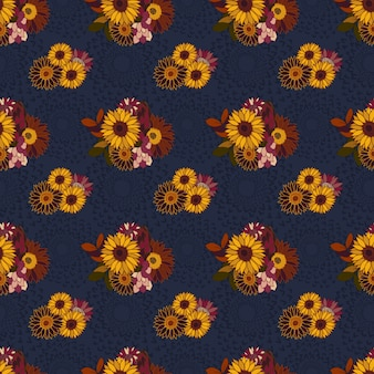 Autumn-wildflower-garden-seamless-pattern
