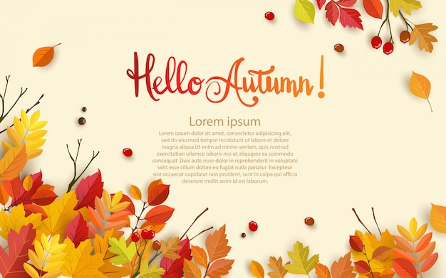 Autumn with beautiful leaves.