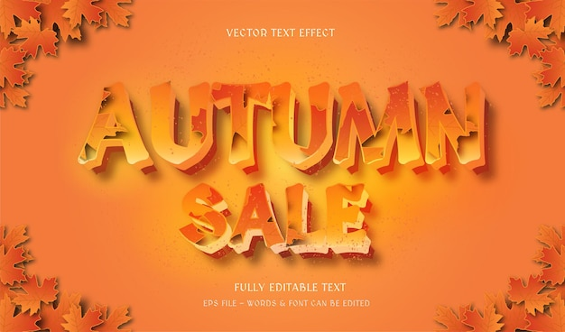 Autumn with modern style editable text effect
