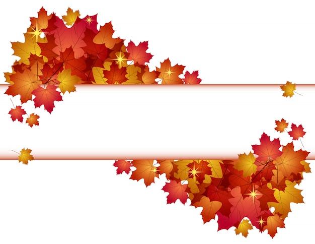 赤い葉と秋。 。