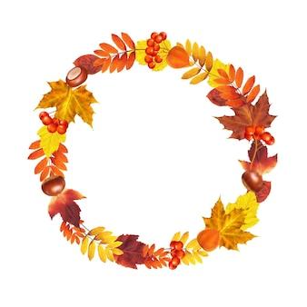 Autumn wreath with gradient mesh