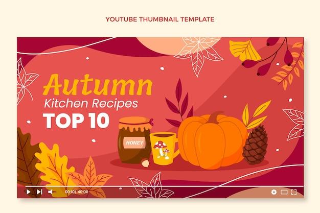 가을 유튜브 썸네일 템플릿 무료 벡터